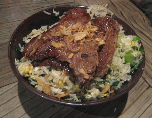Short rib and scallion rice