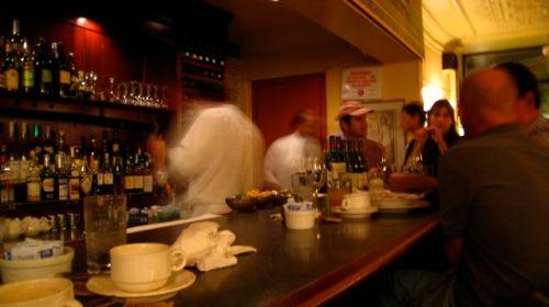 Le bar at Le Bouchon (photo by Tonia Kim)