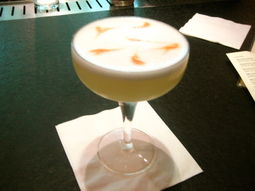 Pisco Sour at Slanted Door