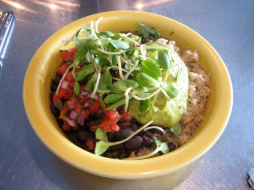 Quinoa and veggie rice bowl