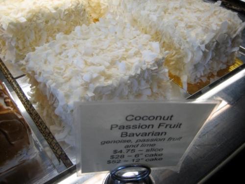 Coconut passionfruit Bavarian