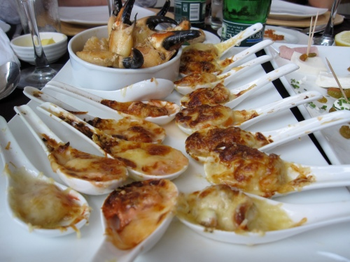 Shellfish with melted Parmesan, Kuchen Haus, Chile