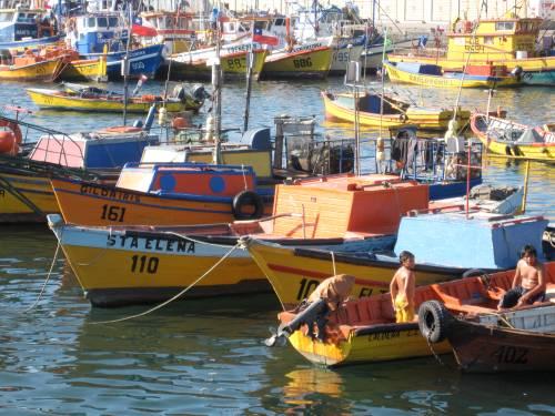 Harbor in Curico, Chile
