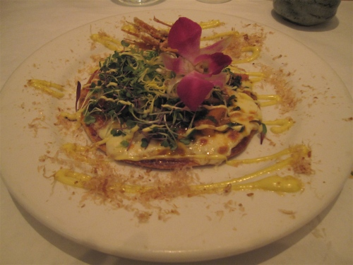Japanese flatbread at Kaze