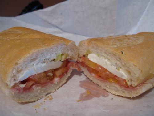 Prosciutto and fresh mozzarella sub