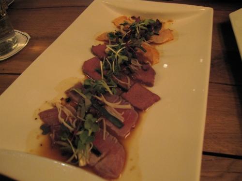Truffled tataki sashimi
