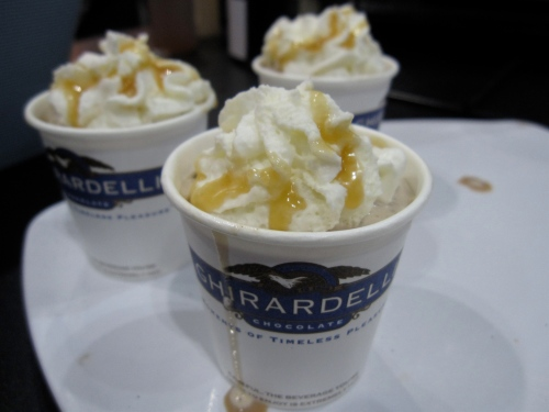 Hot chocolate drink from Ghirardelli