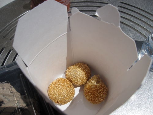 Sesame balls from Whole Foods
