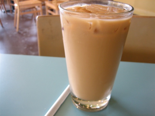 Vietnamese iced coffee on the rocks at Vella Cafe