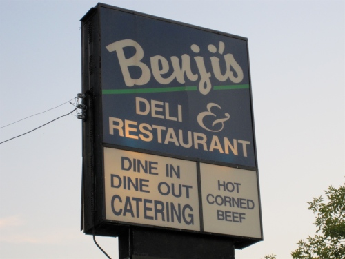 Benjy's sign on Oakland Avenue