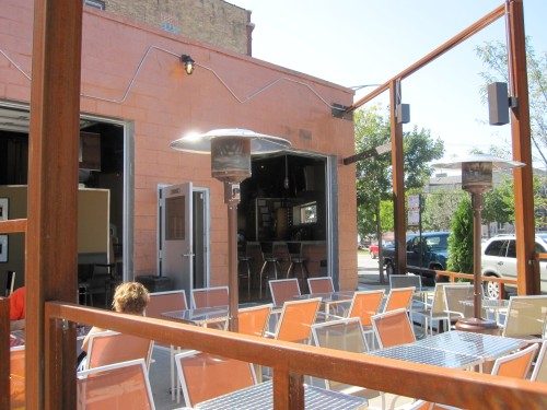 Outdoor patio at Clutch