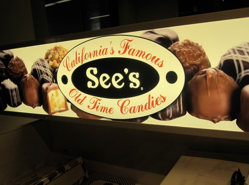 See's Candy Kiosk in San Francisco airport