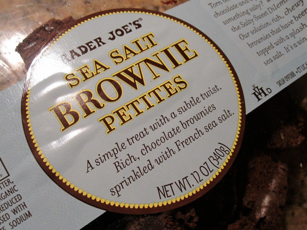 Sea salt brownies at Trader Joe's
