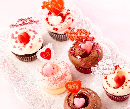 Valentine's Day cupcakes from Magnolia Bakery