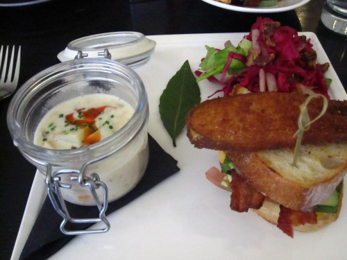 Clam chowder in a jar at GT Fish  & Oyster