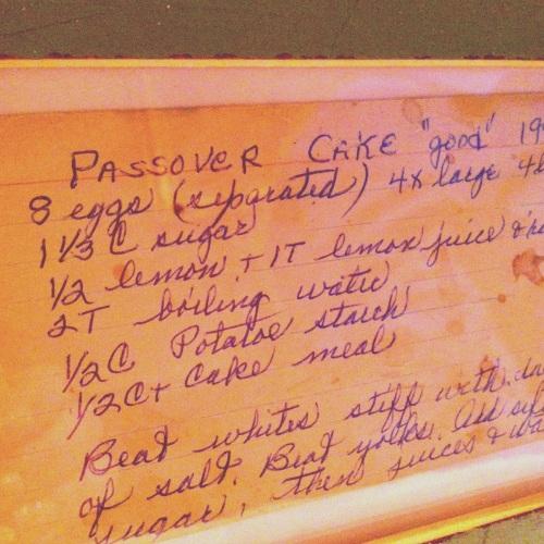 Retro Passover Cake